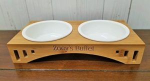 multifunctional vintage pet feeder stand