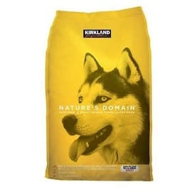 Kirkland Nature's Domain this is grain-less beef and sweetened potato kibble