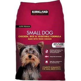 Kirkland-dog-food for pooches who are old and have lesser years to live